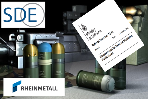 SDE Support Rheinmetall Waffe Munition GmbH with Defence Munition Publications for UK MOD